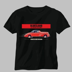 Bluesland black t-shirt design
