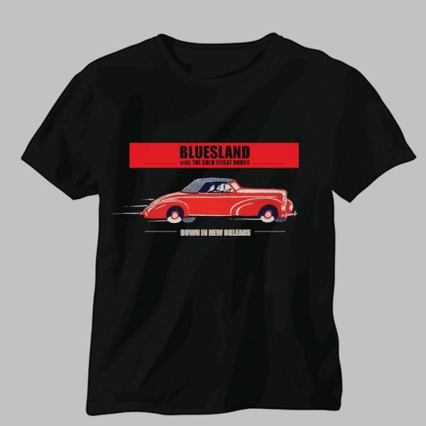 Bluesland black t-shirt design
